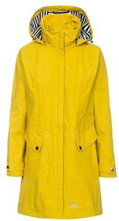 215897cb414b1d Amazon Trespass damskie Rainy Day deszczu kurtka z kapturem einrol  regulowanej wysokości, żółty, ...