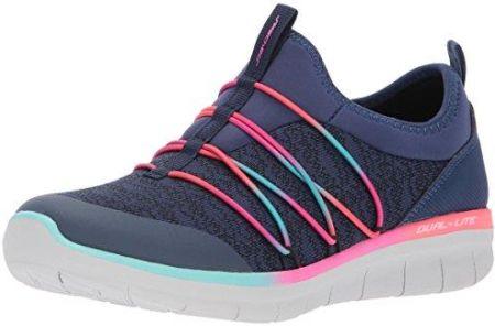 a782b1a72ab30 Amazon Skechers damskie Synergy 2.0-Simply chic Slip on Sneaker - czerwony -
