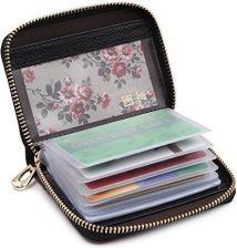 c8abec7139827 Amazon zoress damski portfel z prawdziwej skóry etui na karty kredytowe na  zamek błyskawiczny karty kredytowej