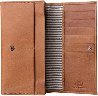 6844d6b0caa62 Amazon Antica Toscana damski portfel z dwoma zmarszczek, z prawdziwej  skóry, z zamkiem błyskawicznym