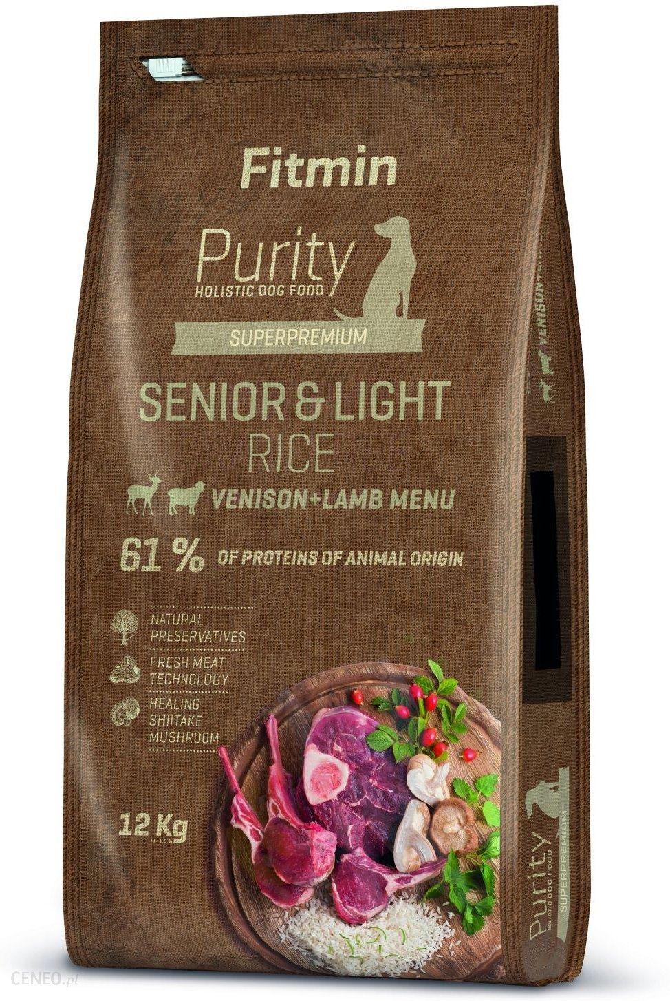 Fitmin Purity Rice Senior & Light Venison & Lamb 12kg