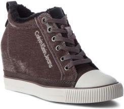 8598eec6e3d1b Sneakersy CALVIN KLEIN JEANS - Robina R0530 Silver eobuwie