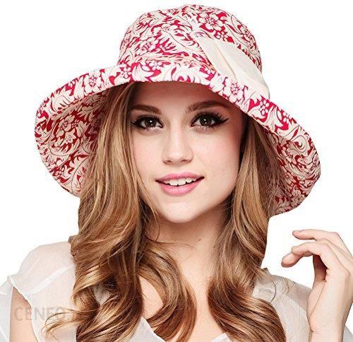 Amazon Mai lub inną terapię układową ™ damskie Sun Protection Bucket Hat -  czerwone - zdjęcie d7bee68cf23