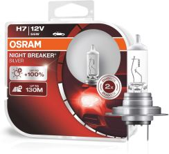 Osram H7 Night Breaker Silver + 100% DuoBox