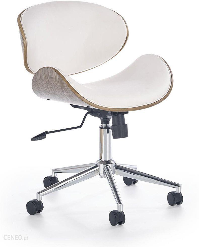 Krzesło obrotowe SOA do biurka biurowe z poduszką biały