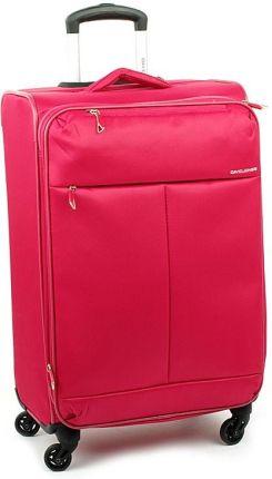 51c630ca45692 Duża lekka walizka na czterech kółkach David Jones 5043 Różowy