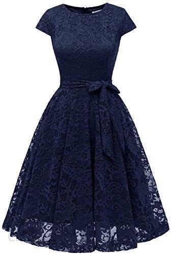 d4875cdf56f99b Amazon muadress sukienka koronkowa kolana długości krótka sukienka  koktajlowa sukienka druhny sukienka damska A line,