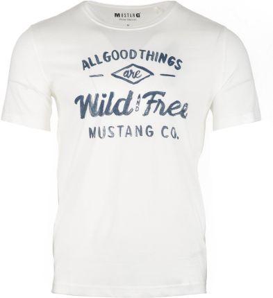 c2a969845020e Mustang T-shirt męski Printed XXL kremowy, BEZPŁATNY ODBIÓR: WROCŁAW!