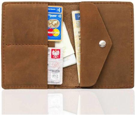b547831569494 Podobne produkty do Skórzany cienki portfel męski z bilonówką SOLIER SW16A SLIM  czarny - Czarny