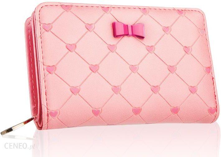 06947479458db Portfel damski z kokardką pudrowy różowy ekoskóra - Ceny i opinie ...