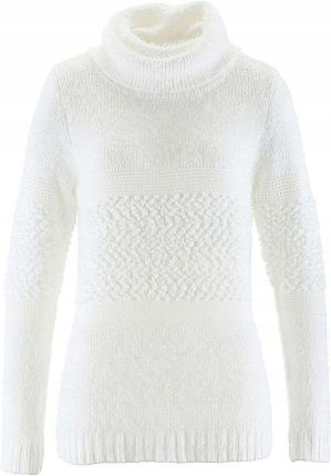 83afc4b8dad48 Sweter z golfem biały 52/54 6XL/7XL 937424 Allegro