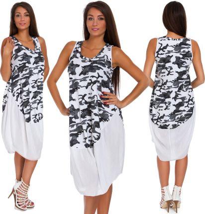 e54dac6c9d 663 roz L  LETNIA Zwiewna Sukienka Plażowa
