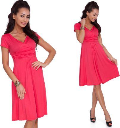 481d4825a3 Sukienka o prostym kroju z krótkim rękawem 42 XL - Ceny i opinie ...