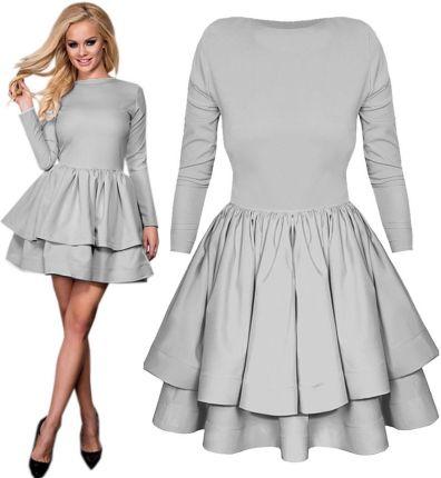 a9579c50c4 Kobieca Rozkloszowana Sukienka Falbanki Pik P332 - Ceny i opinie ...