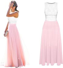 78fdf65f5a Sukienka Maxi Long Koronka Zwiewna Kolory J214