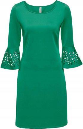9d7cf94a73 Sukienka z wycięciam zielony 44 46 XXL 3XL 914313 Allegro
