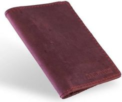 5e0d5e968393d Skórzany cienki portfel slim wallet BRODRENE SW07 czerwony - Czerwony -  zdjęcie 1