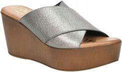 b8f614ca Damskie Klapki Srebrne Koturn Oh My Sandals 3490 Allegro. Damskie Klapki  Srebrne Koturn Oh My Sandals 3490 119,99zł. Sandały DOLCE PIETRO - 0888-124- 01-1 ...