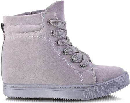 Beżowe Sneakersy Suwak Botki 7998 2 BEŻOWY 37