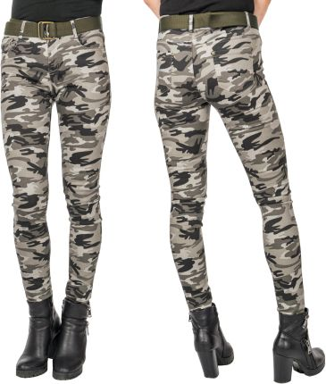 35aabb57515de3 Spodnie Moro Rurki Damskie Army Jeans 4826 r 78 cm Allegro