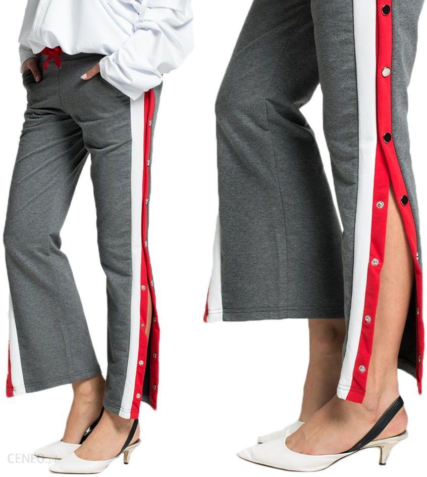 Spodnie rozpinane Lampasy dresy new C39 C.szare XL Ceny i opinie Ceneo.pl