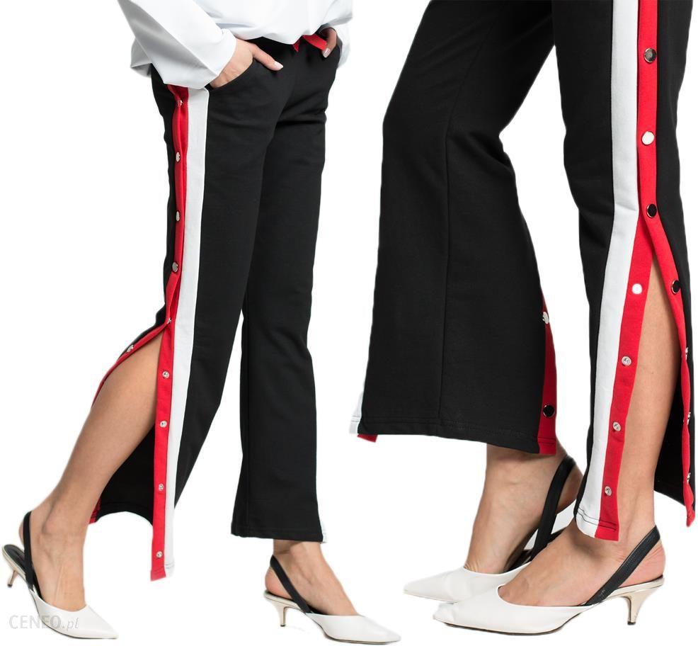 Spodnie rozpinane Lampasy dresy new C39 Czarne XL Ceny i opinie Ceneo.pl