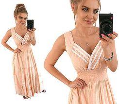 a481f62cfc Cudowna Kopertowa Sukienka Maxi Lato XL XXL N966