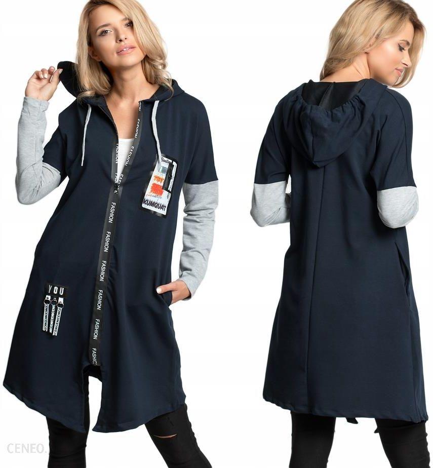 Długa bluza z kapturem Fashion suwak E06 Kolory Ceny i opinie Ceneo.pl
