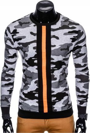 Bluza męska bez kaptura sport B808 szara moro XL Allegro ae62f0e3ce3