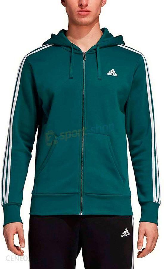 najlepiej sprzedający się cienie najlepsza wartość Bluza męska Essentials 3-Stripes Fleece Adidas (zielona)