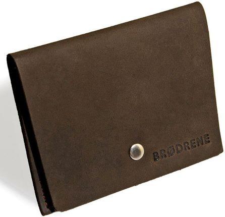 8ab1347ecf42e Skórzany zestaw portfel i bilonówka BRODRENE SW06 + CW01 ciemnobrązowy -  c.brązowy