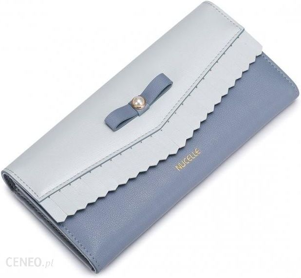 bcbaace246c5b NUCELLE Długi portfel z perełką Jasnoniebieski - Ceny i opinie ...