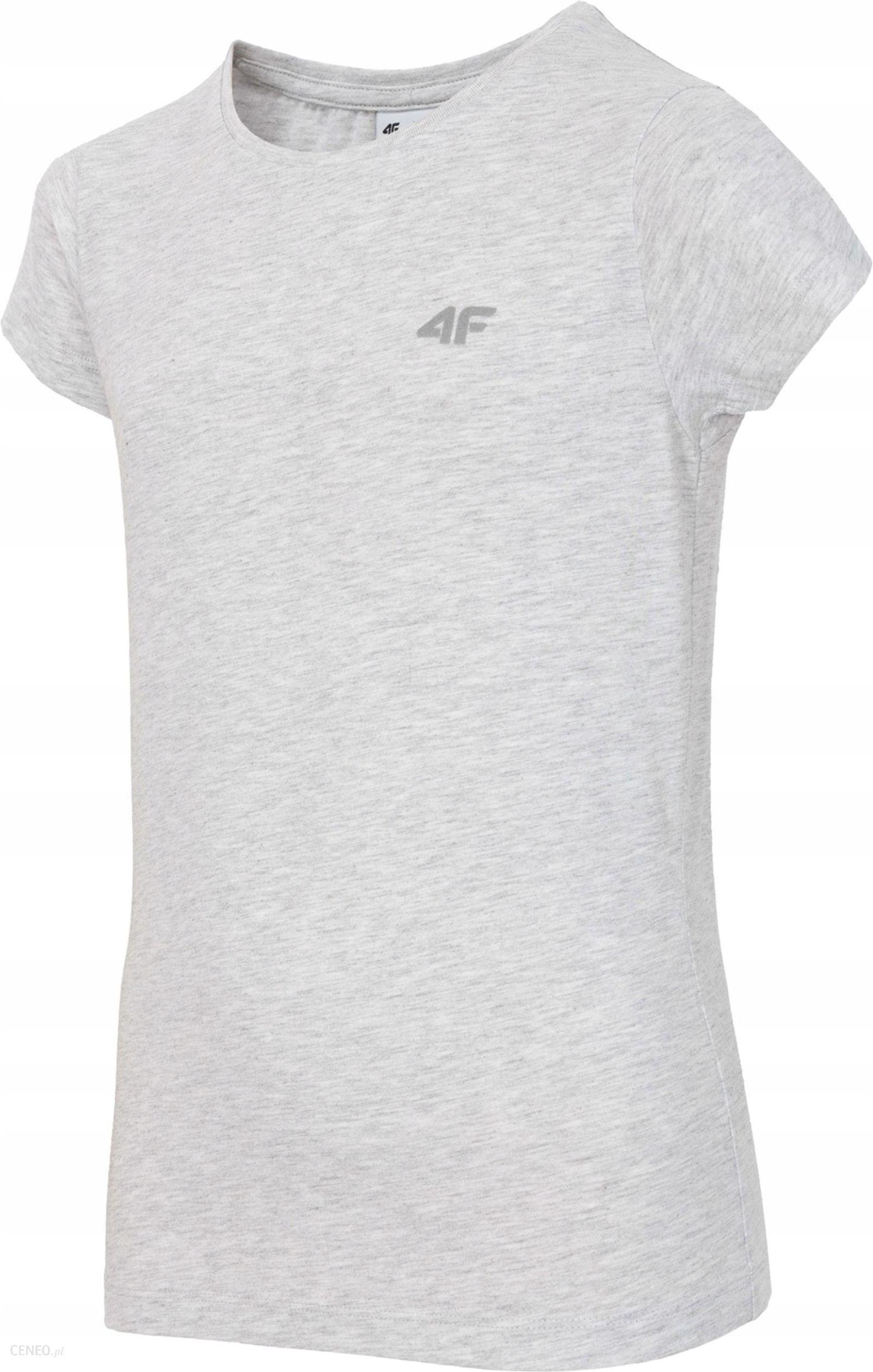 Koszulka 4F Dziewczęca HJZ18 JTSD001 Szara R. 158 Ceny i opinie Ceneo.pl