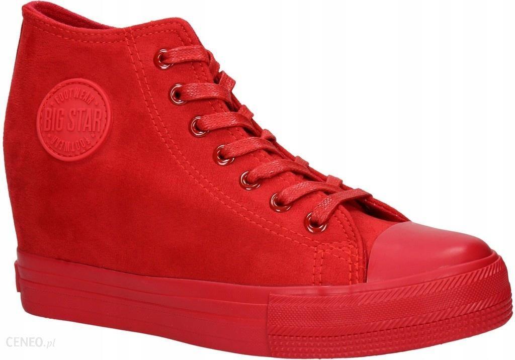 Sneakersy Na Koturnie Big Star BB274088 Czerwony Ceny i opinie Ceneo.pl