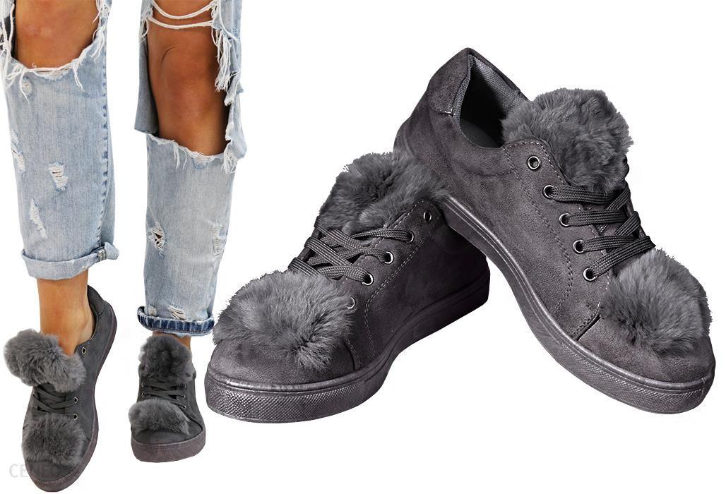 00c26c7e7f601 I Buty Ceny Opinie B026 40 Futro Damskie Wiosna Zamsz Sneakersy a0q8wra