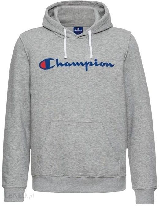 bluza champion szara z szaro czarnym kapturem