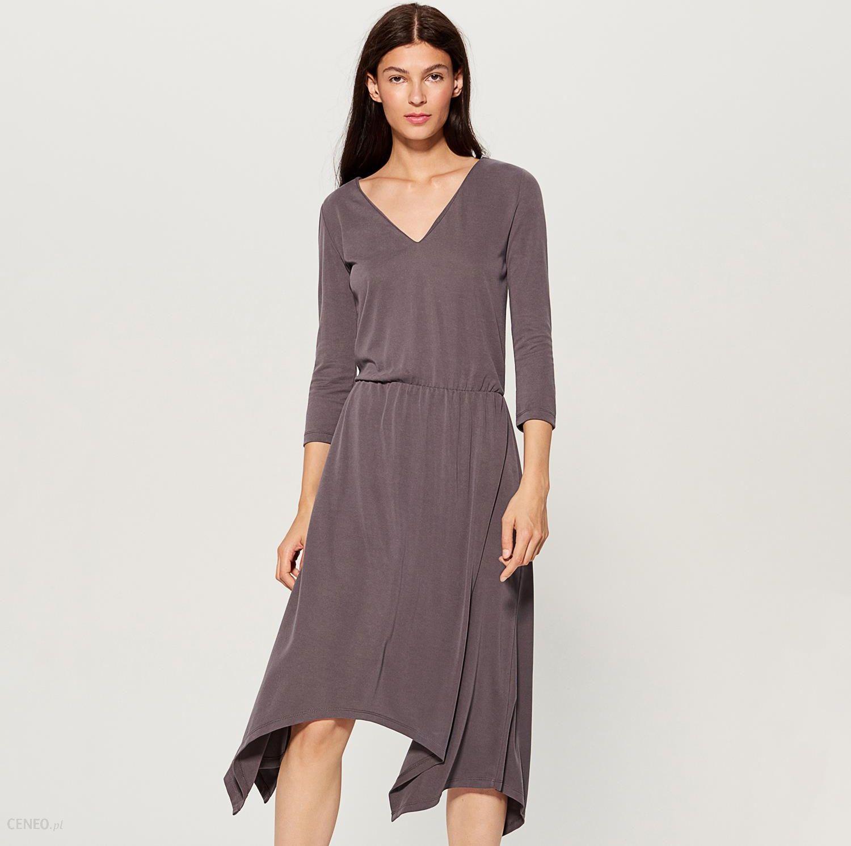 af16b81d98 Mohito - Dzianinowa sukienka z asymetrycznym dołem - Szary - Ceny i ...