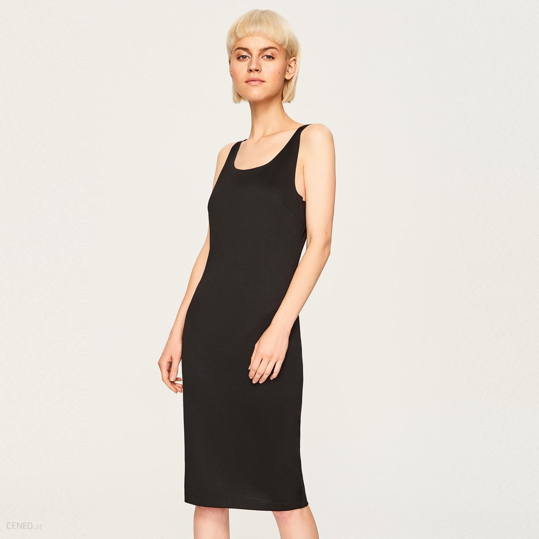 4a1100fbc07447 Reserved - Dzianinowa sukienka - Czarny - Ceny i opinie - Ceneo.pl