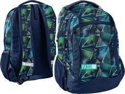 474b961025a8a Paso Plecak Do Szkoły 2-Komorowy Green Triangles 182808Rg