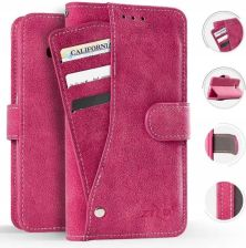 Zizo Slide Out Wallet Pouch - Skórzane etui iPhone X Pink (SOPWPIPH8PK)