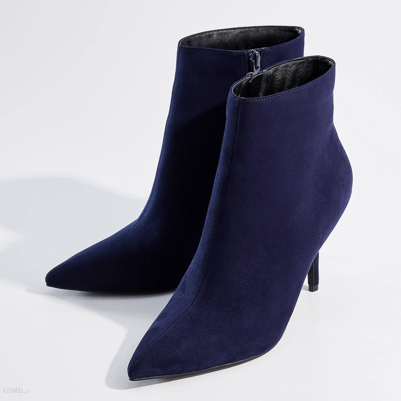 Granatowe botki na szpilce niebieskie | Botki, Szpilki, Kozaki