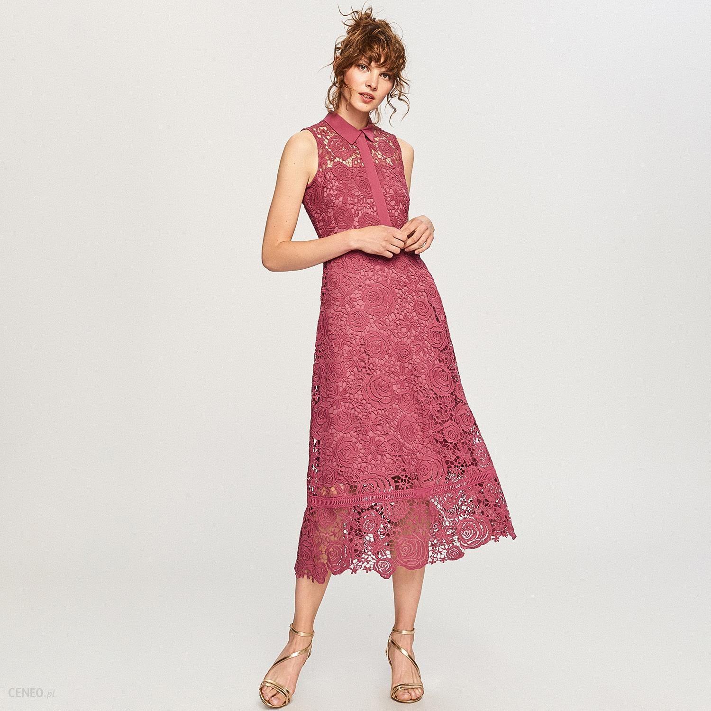 3289dd74 Reserved - Koronkowa sukienka - Niebieski - Ceny i opinie - Ceneo.pl