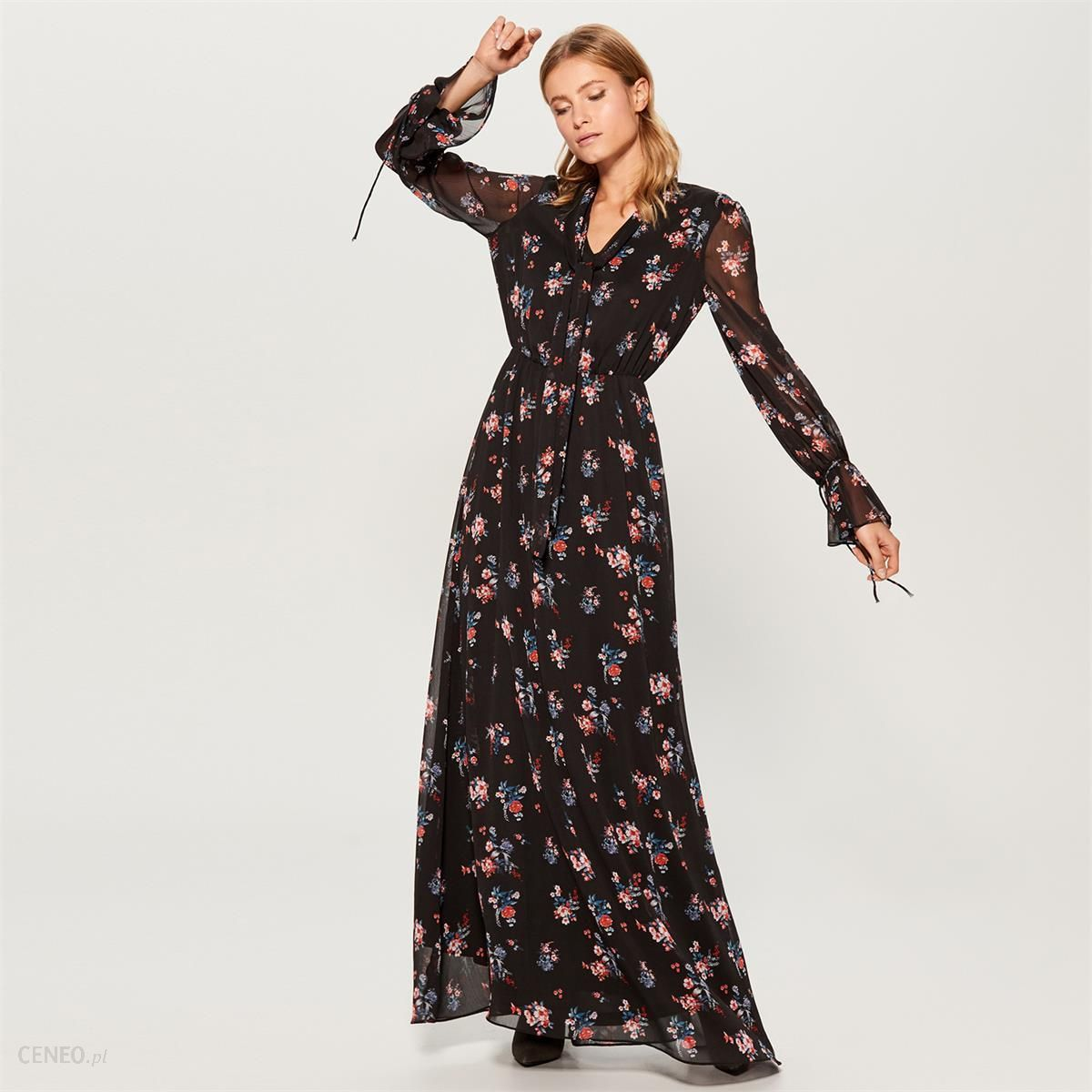 5ec814efa6 Mohito - Szyfonowa sukienka maxi gold label - Wielobarwn - Ceny i ...