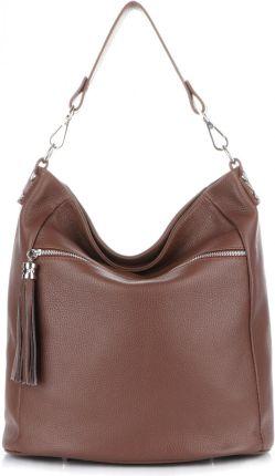 bd656a88eec06 Włoskie Torebki Skórzane Na co Dzień firmy Genuine Leather Brązowe (kolory)  ...