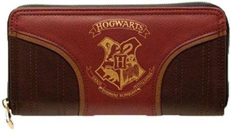 b4a1830a078b4 Amazon Oficjalnie licencjonowana Harry Potter Złoto Hogwarts emblemat Zip  okrągły torebka