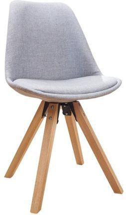 Krzesło do jadalni Igloo błękitne tkanina 86cm meble