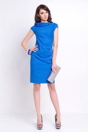 81e4fe6185 Vera Fashion Elegancka sukienka wizytowa - Salome chabrowa