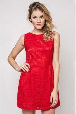 3c90a8a95d Vera Fashion Sukienka Sonia w kolorze czerwonym z koronką