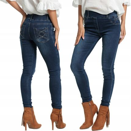 addc48feb145 Spodnie jeansowe jeginsy Denim E42 Granat S M Allegro