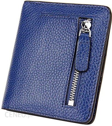 13252ddeaf0a1 Amazon S-Zone damska miękka skóra bydlęca mała Compact portfel portmonetka  z zamkiem błyskawicznym Pocket